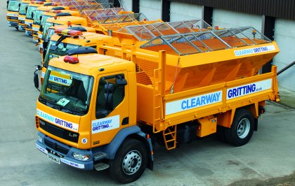 Clearway Gritting vehicles ready for winter gritting season